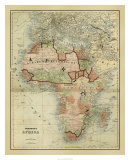 Antique Map of Africa Giclee Print