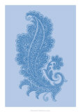 Porcelain Blue Motif I Affiches