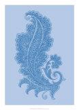 Porcelain Blue Motif I Giclee Print