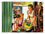 Family in Kitchen, 1946 Giclee Print