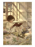 Chlld Reading on Couch, 1905 Reproduction procédé giclée par Jessie Willcox Smith