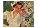 Smiling Nurse Giclee Print