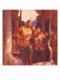 Robin Hood and the Men of Greenwood, 1917 Giclee Print by Newell Convers Wyeth