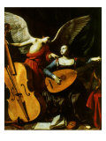 Saint Cecilia and the Angel, 1600 Giclee Print by Carlo Saraceni