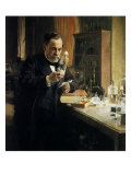 Louis Pasteur in Lab, 1884 Giclee Print by Albert Edelfelt