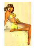 Pin-Up Girl in Yellow Bikini, 1940 Giclee Print