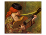 Young Spanish Woman with a Guitar, 1898 Giclee Print by Pierre-Auguste Renoir