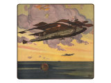 Sci Fi - Futuristic Aircraft, 1919 Giclee Print by Harry Grant Dart