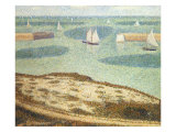 Entrance to the Harbor, 1888 Impressão giclée por Georges Seurat