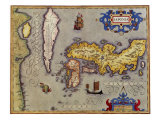 Ancient Map of Japan 1606 Giclee Print by Jodocus Hondius