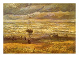 Sailboat in Storm, 1882 Giclee Print by Vincent van Gogh