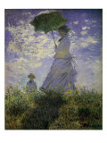 Woman with a Parasol, 1875 Giclee Print by Claude Monet