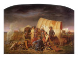 Advice on the Prairie, 1853 Lámina giclée por William Tylee Ranney