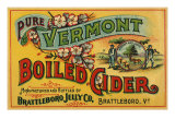 Cider Label Reproduction procédé giclée
