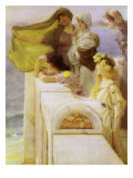 At Aphrodite'S Cradle, 1908 Giclee Print by Sir Lawrence Alma-Tadema
