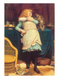 Coaxing Is Better Than Teasing, 1883 Giclee Print by Charles Burton Barber