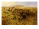 The Buffalo Hunt 2, 1900 Giclee Print by Charles Marion Russell