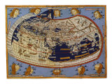 Old Map of the World Ptolemaic World, 1482 Giclee Print