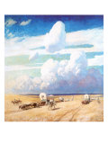Covered Wagons, 1940 Giclee Print by Newell Convers Wyeth