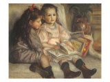 Portrait of Children, 1895 Giclee Print by Pierre-Auguste Renoir