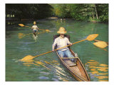 Men Sculling, 1877 Giclee Print by Gustave Caillebotte