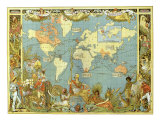 Map of the British Empire in 1886 Giclee Print by Walter Crane