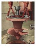 Giant Generator, 1935 Giclée-trykk av Charles Sheeler