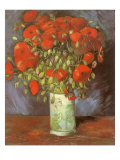 Vase of Poppies, 1886 Giclee Print by Vincent van Gogh