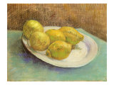 Still Life with Lemons on a Plate, 1887 Giclee Print by Vincent van Gogh