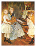 The Daughters of Catulle Mendes, 1888 Giclee Print by Pierre-Auguste Renoir