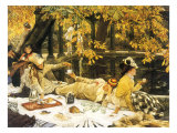 Picnic Lunch by Pool, 1876 Giclee Print by James Tissot