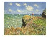 Cliff Walk at Pourville, 1882 Giclee Print by Claude Monet