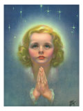 Blonde Girl Praying Giclee Print by Roy Best