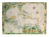 Caribbean and the Gulf, 1538 Giclee Print