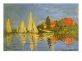 Argenteuil Yacht Race, 1872 Giclee Print by Claude Monet