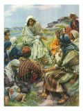 Sermon on the Mount, 1922 Giclee Print by Harold Copping