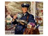 Elderly Mailman, 1956 Giclee Print