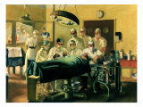Physicians Operating, 1944 Reproduction procédé giclée par Anna Katrina Zinkeisen
