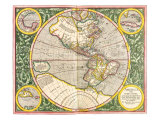Map of the Americas1633 Giclee Print by Gerardus Mercator