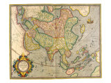 Map of Asia 1633 Giclee Print by Gerardus Mercator