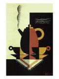 Steaming Coffee Pot, 1926 Gicléedruk van  Sepo