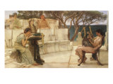 Sappho and Alcaeus, 1880 Giclee Print by Sir Lawrence Alma-Tadema
