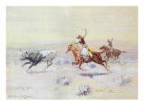 Cowboys from the Bar Triangle, 1904 Giclee Print by Charles Marion Russell