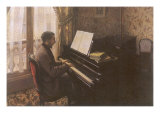Man Playing Piano, 1876 Giclee Print by Gustave Caillebotte
