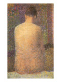 Back View of Nude, 1886 Giclee Print by Georges Seurat