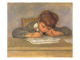 The Artist's Son Jean Drawing, 1901 Giclée-Druck von Pierre-Auguste Renoir