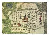 Aztec Map, 1577 Giclee Print
