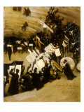 Rehearsal of the Pasdeloup Orchestra at the Cirque D' Hiver, 1876 Giclee Print by John Singer Sargent