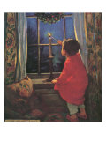 Child Lighting Candle Giclee Print by Jessie Willcox-Smith