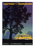 Bus in Country, 1931 Giclee Print by Jupp Wiertz